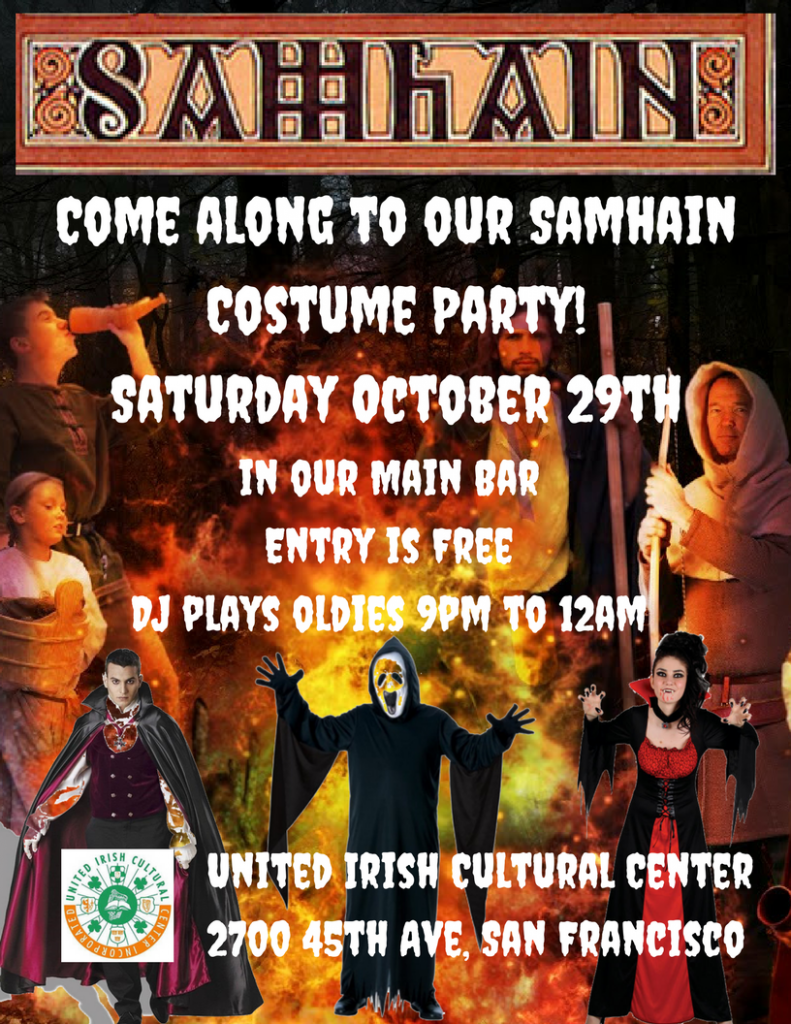 Samhain Costume party at the United Irish Cultural center